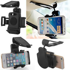 360° in Car Sun Visor Clip Holder Mount Stand Universal For Galaxy LG ZTE MOTO