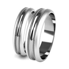 Wedding Rings Matching His and Hers White Gold Patterned Promise Bands Hallmark