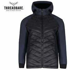 Mens Threadbare Padded Quilted Fleece Lined Hooded Wadded Winter Jacket Coat