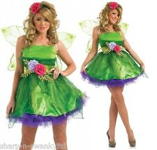 DONNA DA FATA NINFA FOLLETTO costume halloween vestito UK 8-26 TAGLIE FORTI