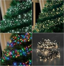 led christmas cluster lights string indoor outdoor multi colour tree decoration