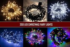 200 LED Fairy String Lights Christmas Indoor/Outdoor Lighting Xmas Garden Party