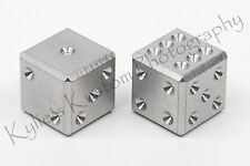 Stainless steel CNC precision machined D6 casino game metal dice