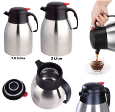 Stainless Steel Double Wall Isolating Flask Vacuum Thermos Hot OR Cold Jug UK