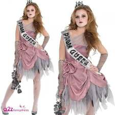 RAGAZZE TEENAGER ZOMBIE PROM QUEEN SPOSA DI HALLOWEEN COSTUME OUTFIT