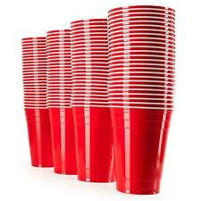 American RED SOLO PLASTIC PARTY CUPS BEER PONG (16oz) 50/100 pcs