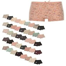 2/3 Pairs Ladies Lace Lacy Boxer Underwear Panties Briefs Knickers Boy Shorts