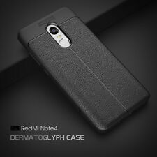 *Auto Focus*Leather Pattern Soft TPU Back Cover Case For Xiaomi Redmi Note 4 *