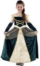 Girls Deluxe Medieval Lady In Waiting Princess Queen Fancy Dress Costume Outfit