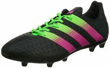 Adidas Men's Ace 16.3 FG/AG Black, Green and Pink Football Boots AF5146