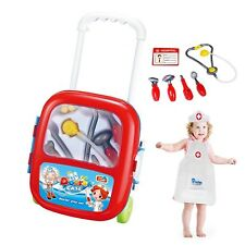 Freebex Deluxe Doctor Medical Kit Kids Nurse Pretend Playset Toy with 8 Pcs A...