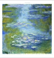 """CLAUDE MONET """"Water Lilies"""" Art CANVAS, PAPER choose SIZE, from 55cm up, NEW"""