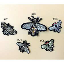 1PCS Embroidered Handmade Beads Crystal Bee Iron Sew on Patches Applique Trim