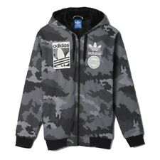 Mens adidas Originals Sherpa Hoodie Camo Full Zip Hooded Top NEW