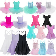 Girls Ballet Dance Wear Dress Kids Gymnastics Leotard Costume Uniform UK Stock~~