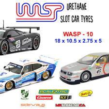 WASP 10 - Urethane Slot Car Tyres - Scalextric 1990's GT, BTCC, Slot-it, Racer