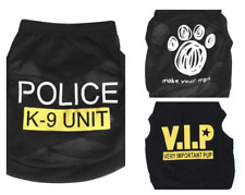 UK XS.S.M.L Puppy Small Dog Pet VIP. POLICE K9. PAWS Vest Outfit Clothes T Shirt