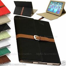 iPad Air lusso in pelle a libretto FIBBIA CINTURA caso del basamento Smart Cover