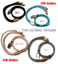 Multi 3 in1 USB Charger Cable iPhone 5 6 7 8/ Samsung/ Android/ Type-C NOTFOR S8