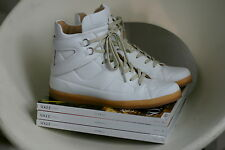 MAISON MARTIN MARGIELA For H&M White High Hi-Top Leather Sneakers Shoes EUR 38