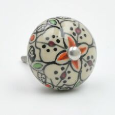 Pretty Painted Flower Knob Cupboard Knobs Handles Drawer Pulls Upcyle UK