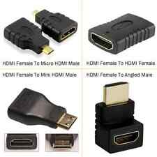 1080P HDMI Female To HDMI Micro Mini Angled Gender Male Female Adapter For HDTV