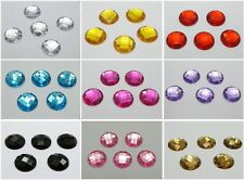 100 Flatback Acrylic Faceted Round Sewing Rhinestone Beads 16mm Color for Choice