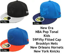 NEW ERA NBA POP TONAL KIDS 59FIFTY FITTED CAP - NETS/HORNETS/KNICKS