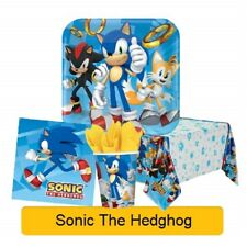 SONIC THE HEDGEHOG Birthday Party Range (Tableware & Decorations) {Amscan} NEW