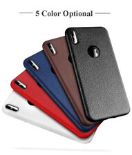 *LEATHER TEXTURE*Ultra Thin Soft Back Cover Case For Apple iPhone X / TEN