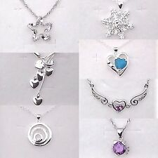 925 Sterling Silver Plated Necklace Pendants / Christmas Gifts