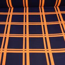 Tangy Orange Plaid Style Sheer Fabric - Sold by the Continuous Metre & Samples