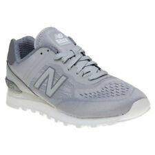 New Mens New Balance Grey 574 Re-Engineered Nylon Trainers Retro Lace Up