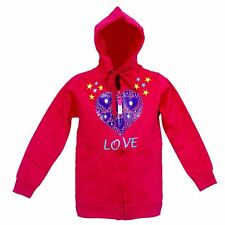 IndiPlay Cotton Hooded Full Sleeve hoodies for Girls - Heart Pink