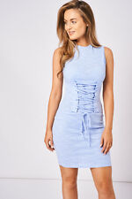 NEW Blue Stretchy Bodycon Evening Formal Casual Party Mini Dress Women's Summer