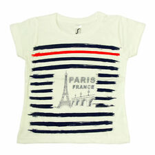 Souvenirs de France - T-Shirt Enfant Paris 'Marin' - Blanc