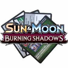 Pokemon Sun & Moon BURNING SHADOWS Online Booster Codes for PTCGO