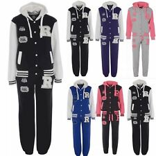 Womens R Fox 61 Baseball Fleece Hooded Tracksuit Ladies Jacket Bottoms Plus Size