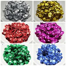 3000 CUP Round loose sequins Paillettes 8mm sewing Wedding craft Colour Choice