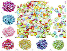 5000 Luster AB Color 6mm CUP round loose Sequins Paillettes sewing Wedding craft