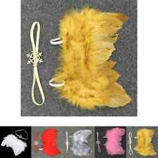 Baby Newborn Angle Feather Wing And Snow Headband Prop Suit Infant Clothes Suit
