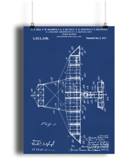 Alexander Graham Bell Flying Machine Poster 1911 US Patent Print Great Gift