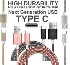 High Speed Fast Charge Metal Braided Type-C Cable Compatible For Android Phones