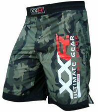 XXR CamoMMA Fight Shorts Camo UFC Cage Fight Muay Thai Boxing Green Camo Shorts