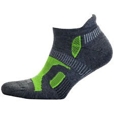 Balega Hidden Contour Structured Fit Running Socks - Charcoal/Neon Green