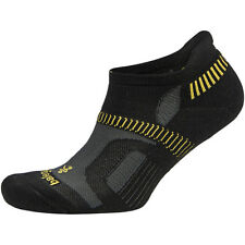 Balega Hidden Contour Structured Fit Running Socks - Black/Yellow