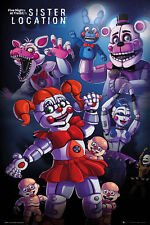Five Nights At Freddys - Sister Location Group - Poster Plakat Größe 61x91,5 cm