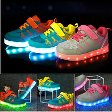 Boys Girls LED Luminous Shoes Light Up Casual Sneakers Sole Glowing Kids Shoes