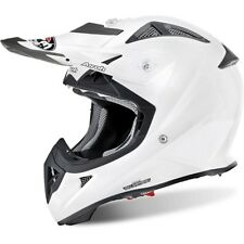 AIROH AVIATOR J AVJ14 CASCO OFFROAD JUNIOR WHITE GLOSS VARIE TAGLIE