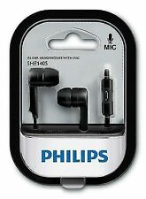 Philips SHE1405 In Earphones with mic- Black/White, hands free, wired headphones